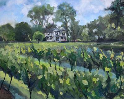 Painting - Orchard House Bed And Breakfast In Lovingston Va by Donna Tuten