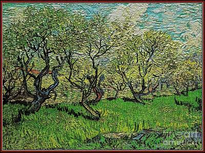Pemaro Digital Art - Orchard In Blossom by Pemaro