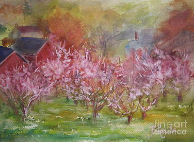 Tresses Painting - Orchards In Bloom by B Rossitto