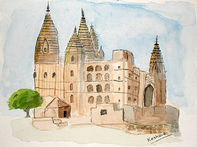 Painting - Orchha Temple by Keshava Shukla