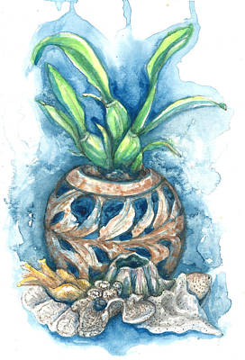 Orchid And Barnacle Art Print