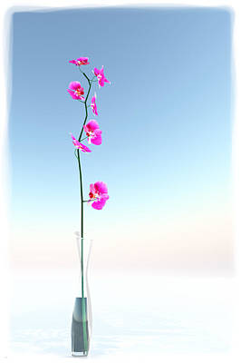 Digital Art - Orchid And Vase... by Tim Fillingim