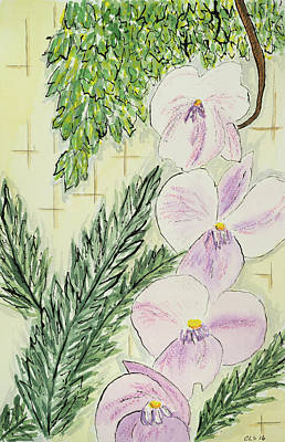 Longwood Gardens Painting - Orchid Close Up by Cynthia Schoeppel