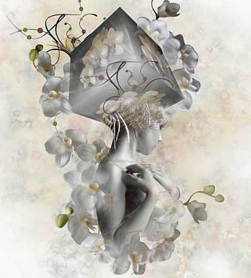 Digital Art - Orchid Cube by Ali Oppy