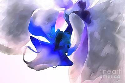 Purple Flowers Digital Art - Orchid Dream by Krissy Katsimbras