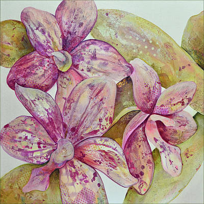 Orchid Wall Art - Painting - Orchid Envy by Shadia Derbyshire