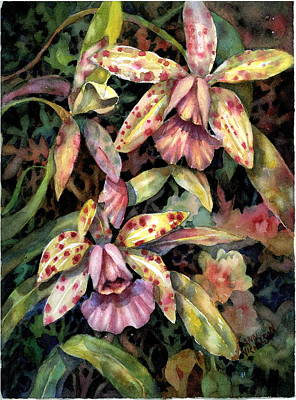 Painting - Orchid Garden by Ann  Nicholson