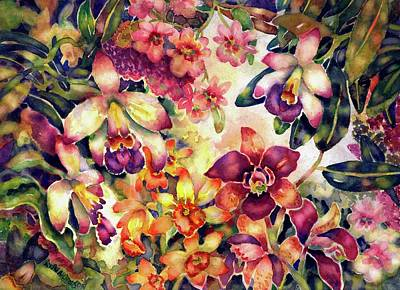 Painting - Orchid Garden II by Ann Nicholson