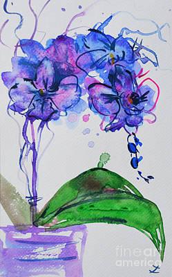 Painting - Orchid Inspiration by Zaira Dzhaubaeva