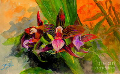 Mangrove Forest Painting - Orchid by Jason Sentuf