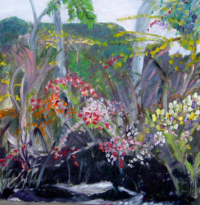 Painting - Orchid Jungle by Carolyn Zaroff