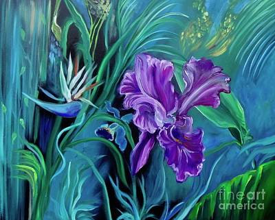 Painting - Orchid Jungle by Jenny Lee
