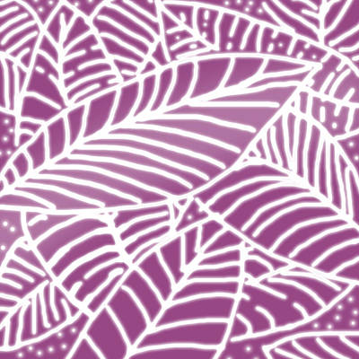 Digital Art - Orchid Leaves Batik by Karen Dyson