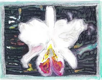 Orchid Misty Mountain Art Print