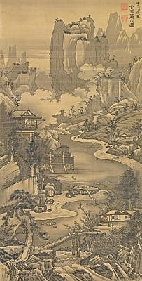 Orchid Drawing - Orchid Pavilion Gathering by Soga Shohaku