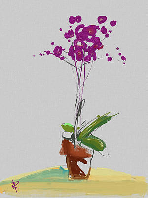 Mixed Media - Orchid by Russell Pierce