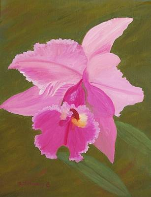Orchid Art Print by Ruth  Housley