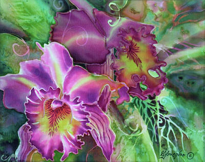 Orchid Series 10 Art Print by Deborah Younglao