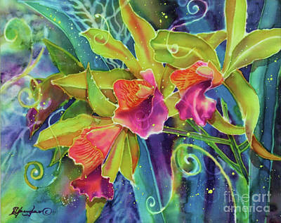 Orchid Series 14 Art Print by Deborah Younglao