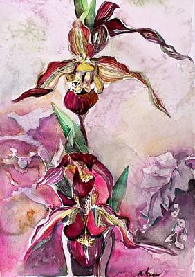Painting - Orchid Slipper Foot by Mindy Newman