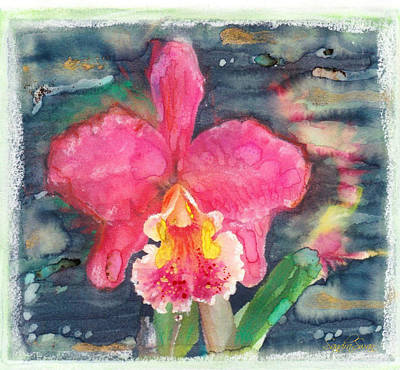 Orchid Surreal Pink Cattleya Art Print