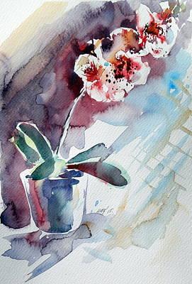 Floral Still Life Painting - Orchidea by Kovacs Anna Brigitta
