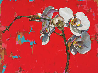 Orchid Wall Art - Painting - Orchids #1 by David Palmer