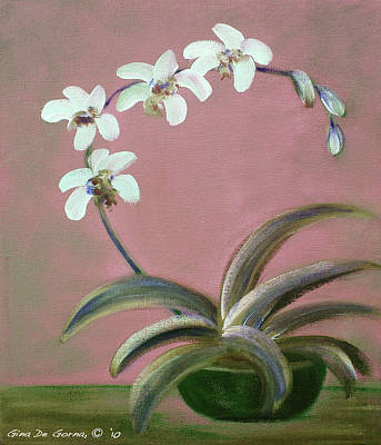 Painting - Orchids 2 by Gina De Gorna