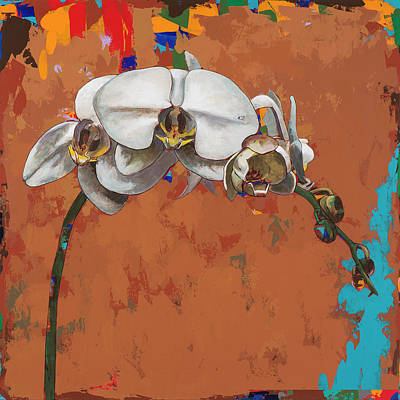 Orchid Wall Art - Painting - Orchids #4 by David Palmer