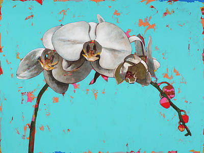 Orchid Wall Art - Painting - Orchids #5 by David Palmer