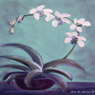Painting - Orchids 5 by Gina De Gorna