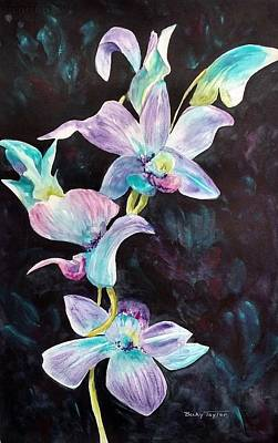 Painting - Orchids Alive by Becky Taylor