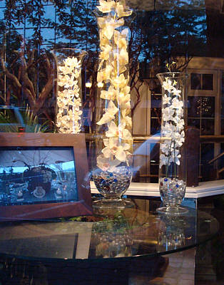 Outside My Window Photograph - Orchids Behind Glass by B Rossitto