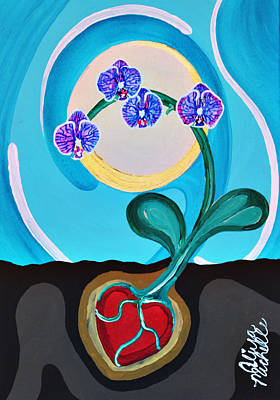 Painting - Orchids For My Love by Aliya Michelle