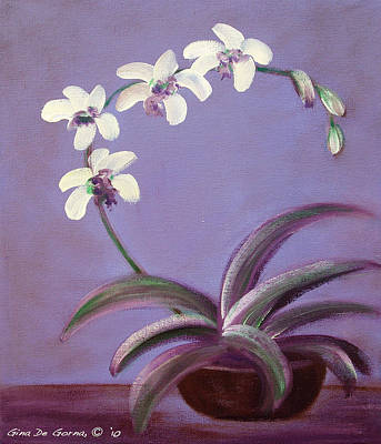 Painting - Orchids by Gina De Gorna