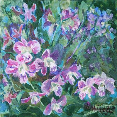 Painting - Orchids In Bangkok by Jan Bennicoff