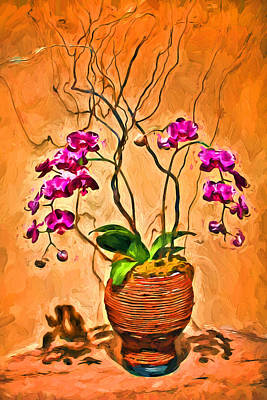 Photograph - Orchids In Basket by Carlos Diaz