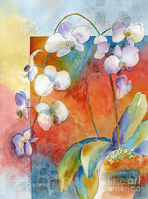 Orchids In Bend Art Print by Pat Katz