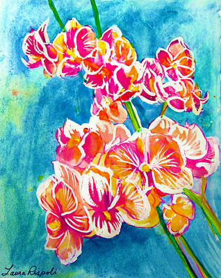 Painting - Orchids by Laura Rispoli