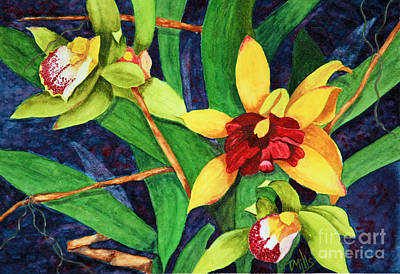 Painting - Orchids by Terri Mills