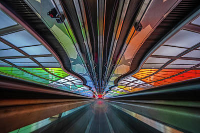 Photograph - Walkway, Chicago Airport by Judith Barath