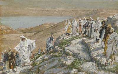Ordaining Of The Twelve Apostles Art Print by Tissot