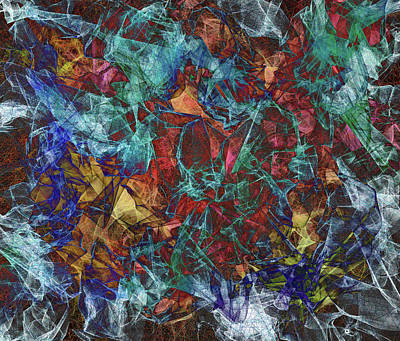 Crystalline Digital Art - Order In Chaos by Marv Vandehey