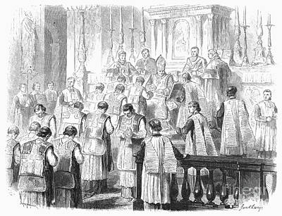 Bowing Photograph - Ordination Of Priest, 1870 by Granger