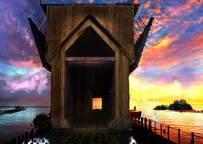 Marquette Digital Art - Ore Dock by Kendall Tabor