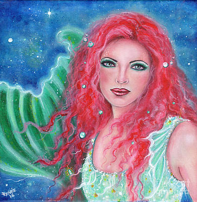 Mermaid Tail Painting - Orebel by Renee Lavoie