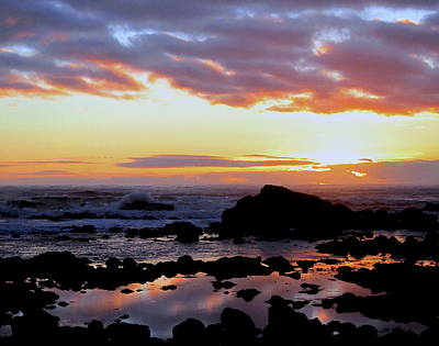 Photograph - Oregon Beach Sunset by Larry Bacon