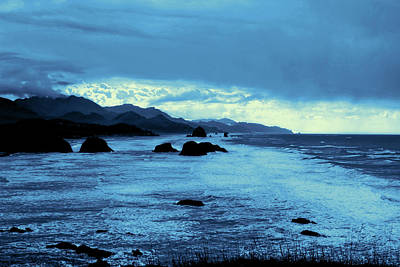 Photograph - Oregon Beaches In Blue by Cathy Anderson