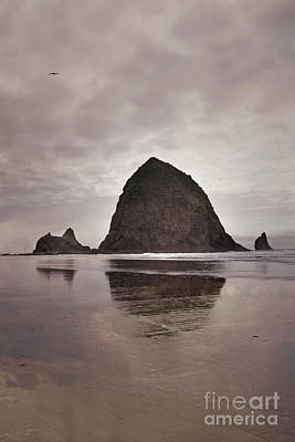 Photograph - Oregon Cannon Beach Haystack Rock Landscape by Andrea Hazel Ihlefeld
