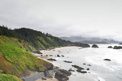 Photograph - Oregon Cannon Beach Mountain Landscape by Andrea Hazel Ihlefeld